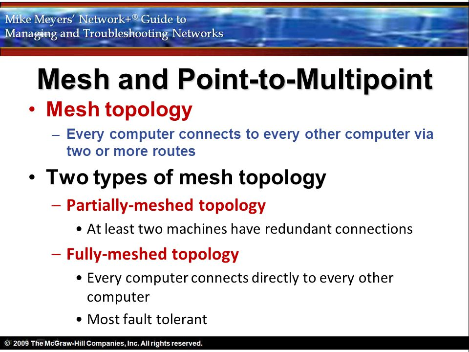 Mesh and Point-to-Multipoint