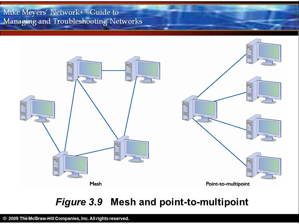 Figure 3.9 Mesh and point-to-multipoint