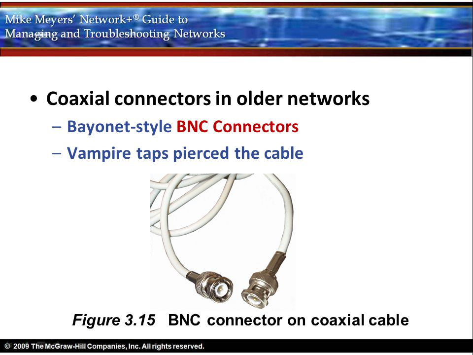 Figure 3.15 BNC connector on coaxial cable