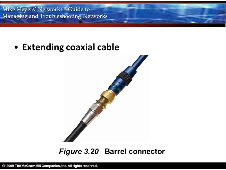 Extending coaxial cable
