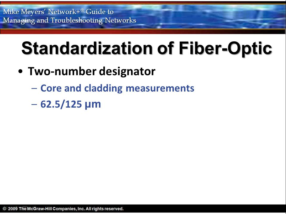 Standardization of Fiber-Optic
