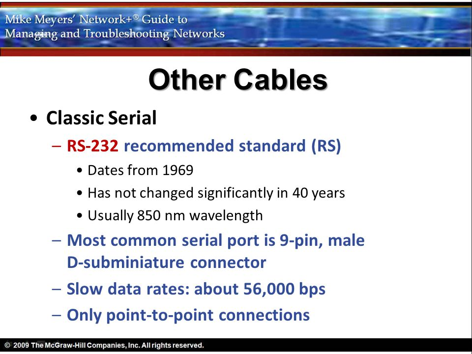 Other Cables Classic Serial RS-232 recommended standard (RS)