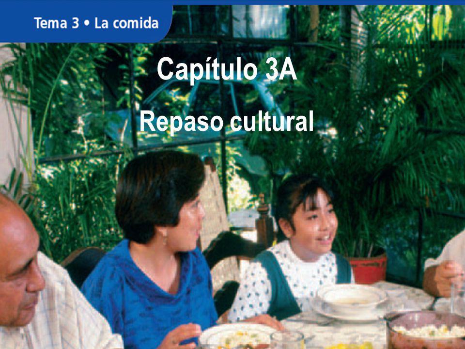 Capítulo 3A Repaso cultural Capítulo 3A Repaso cultural