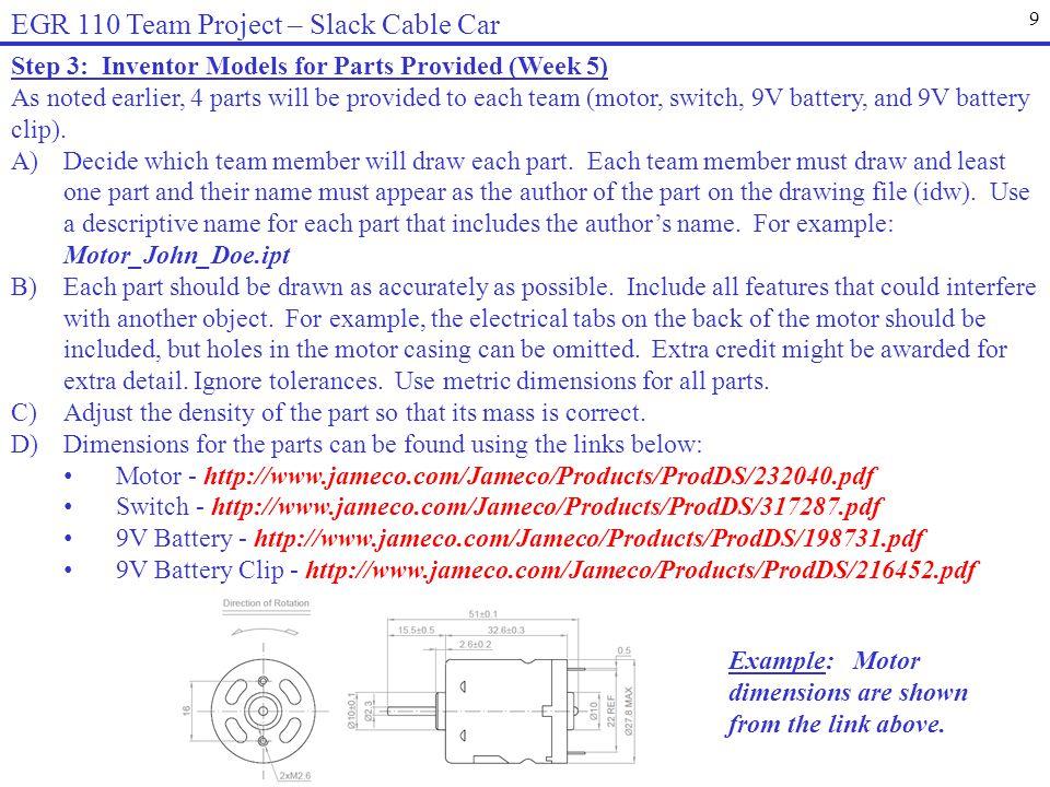 EGR 110 Team Project – Slack Cable Car