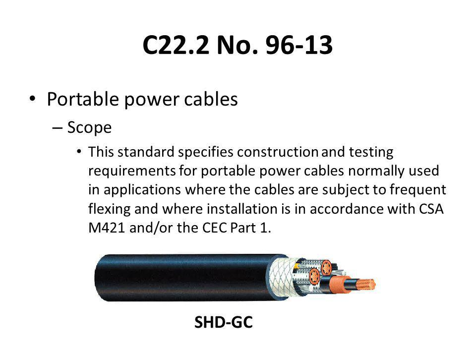 C22.2 No. 96-13 Portable power cables Scope SHD-GC
