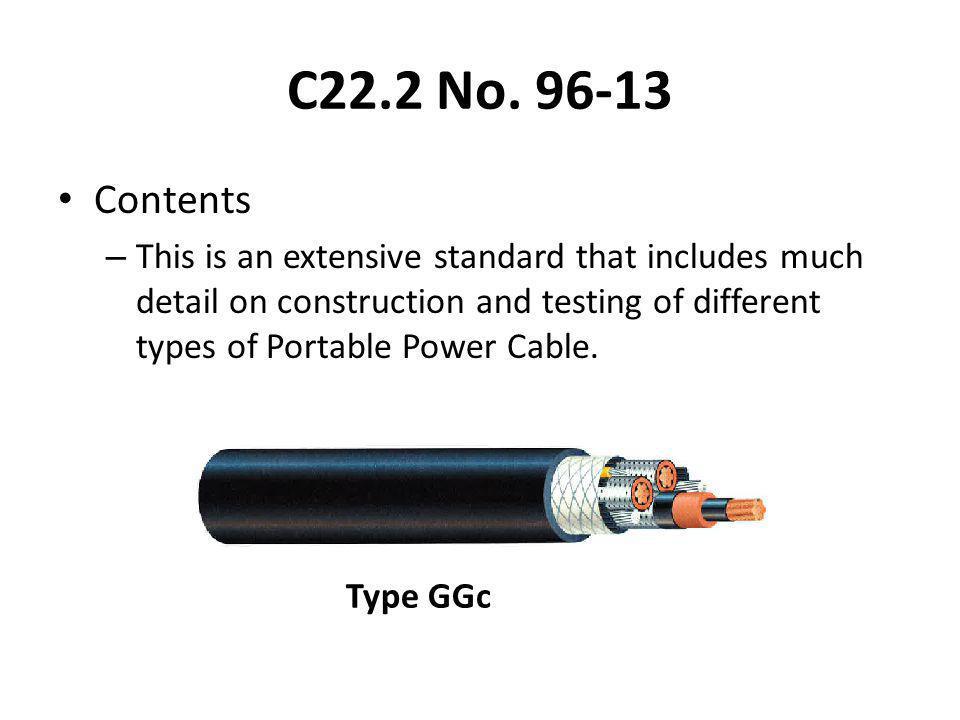 C22.2 No. 96-13 Contents.