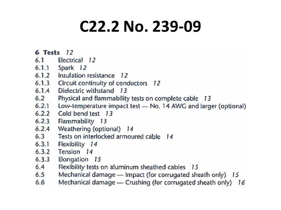 C22.2 No. 239-09