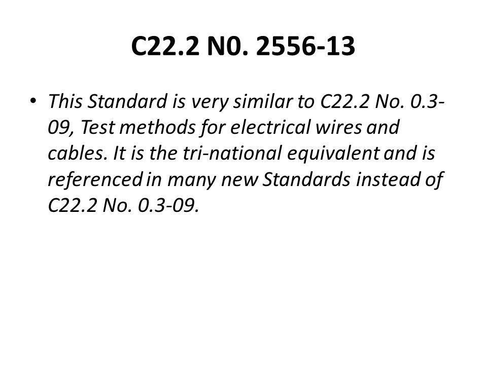 C22.2 N0. 2556-13