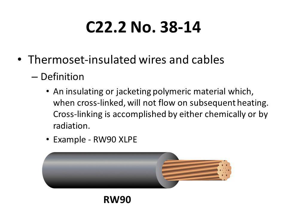 C22.2 No. 38-14 Thermoset-insulated wires and cables Definition RW90