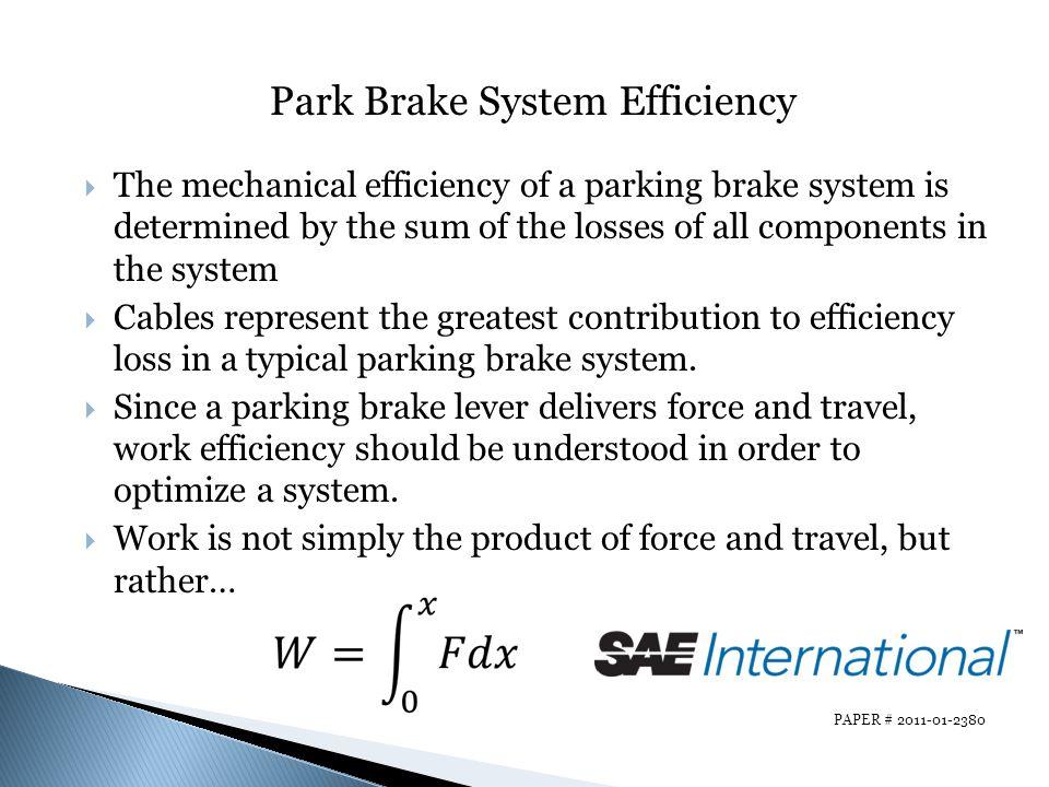 Park Brake System Efficiency