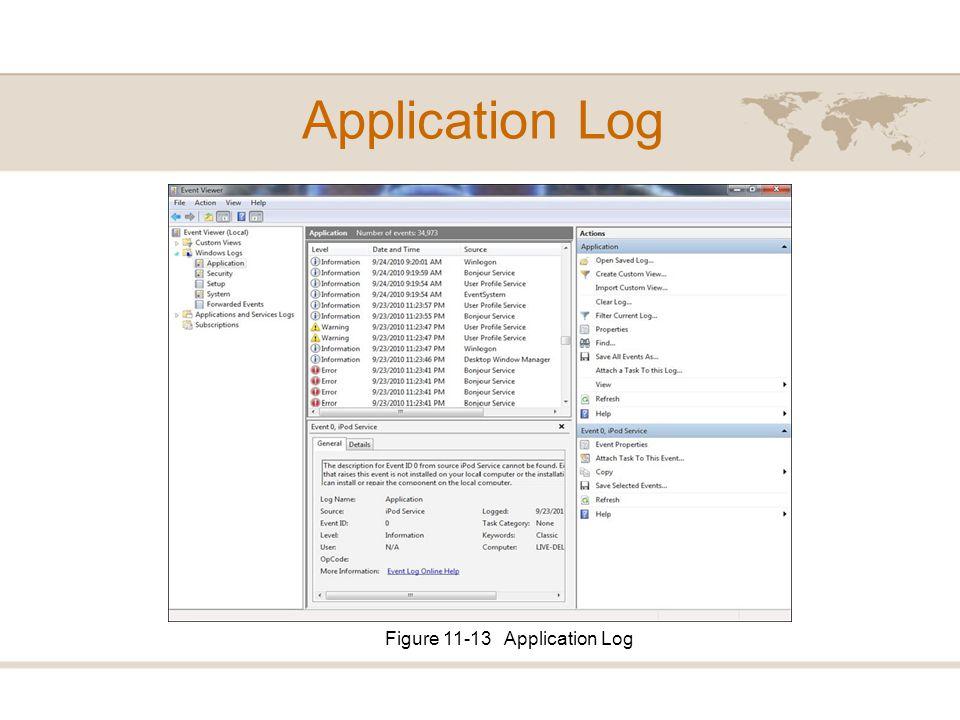 Figure 11-13 Application Log