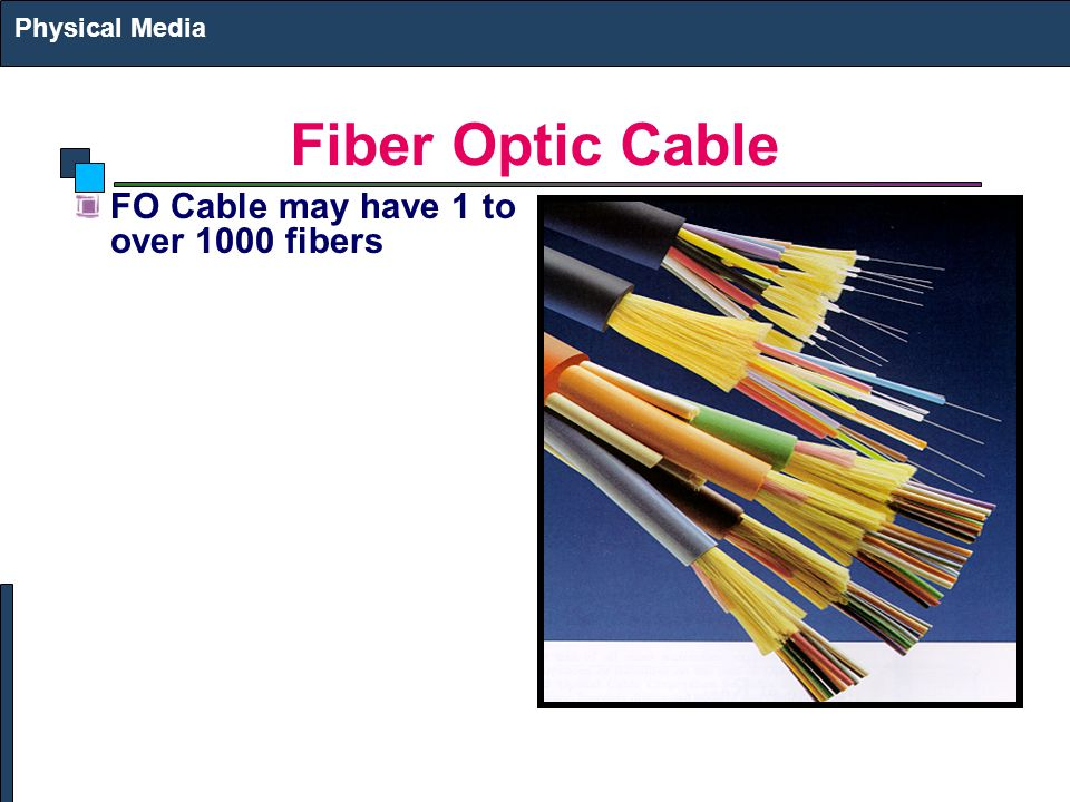 Fiber Optic Cable FO Cable may have 1 to over 1000 fibers