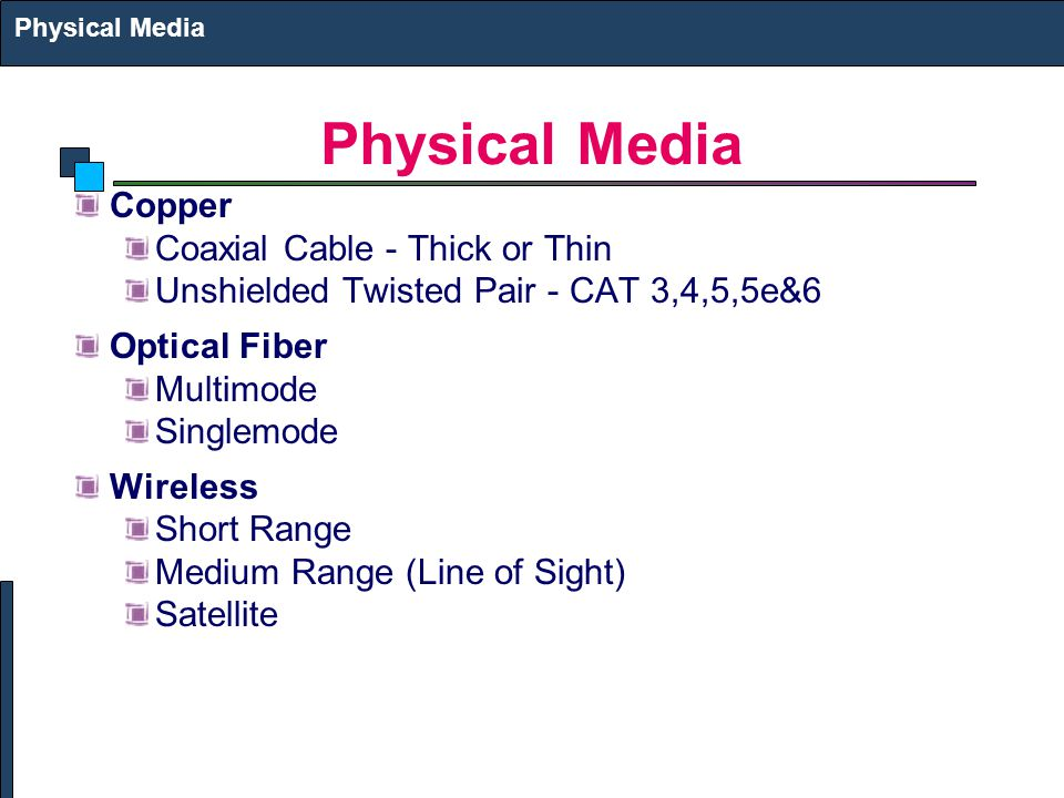 Physical Media Copper Coaxial Cable - Thick or Thin