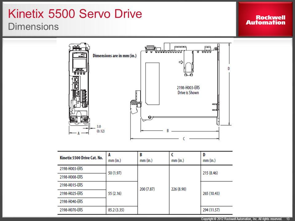 Kinetix 5500 Servo Drive Dimensions