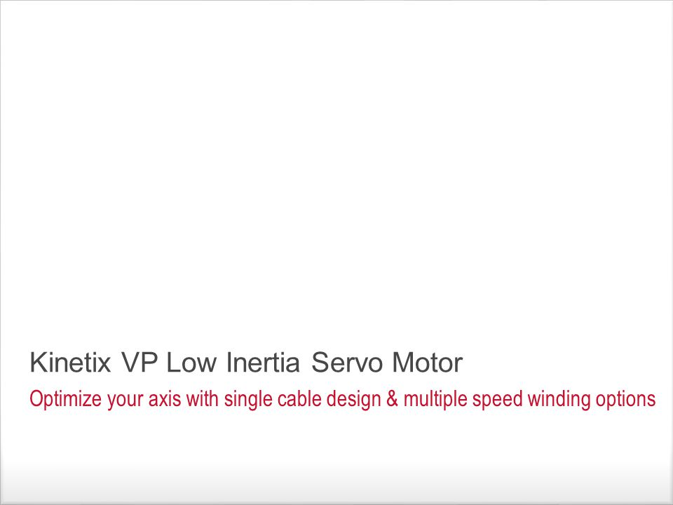 Kinetix VP Low Inertia Servo Motor