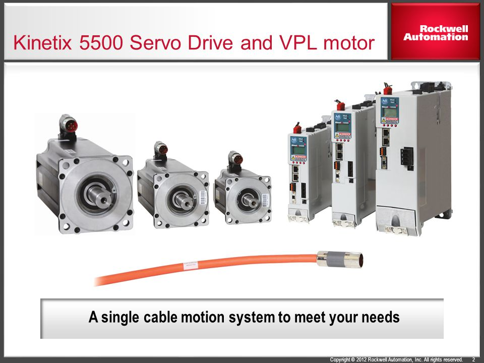 Kinetix 5500 Servo Drive and VPL motor