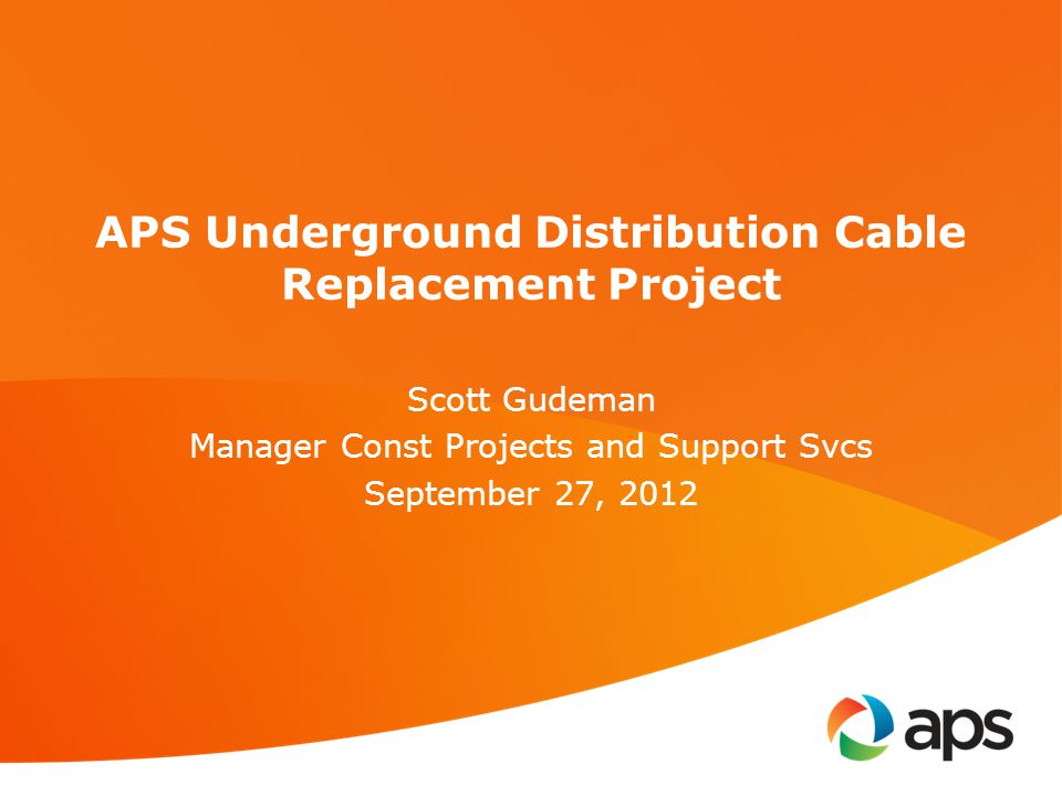 APS Underground Distribution Cable Replacement Project