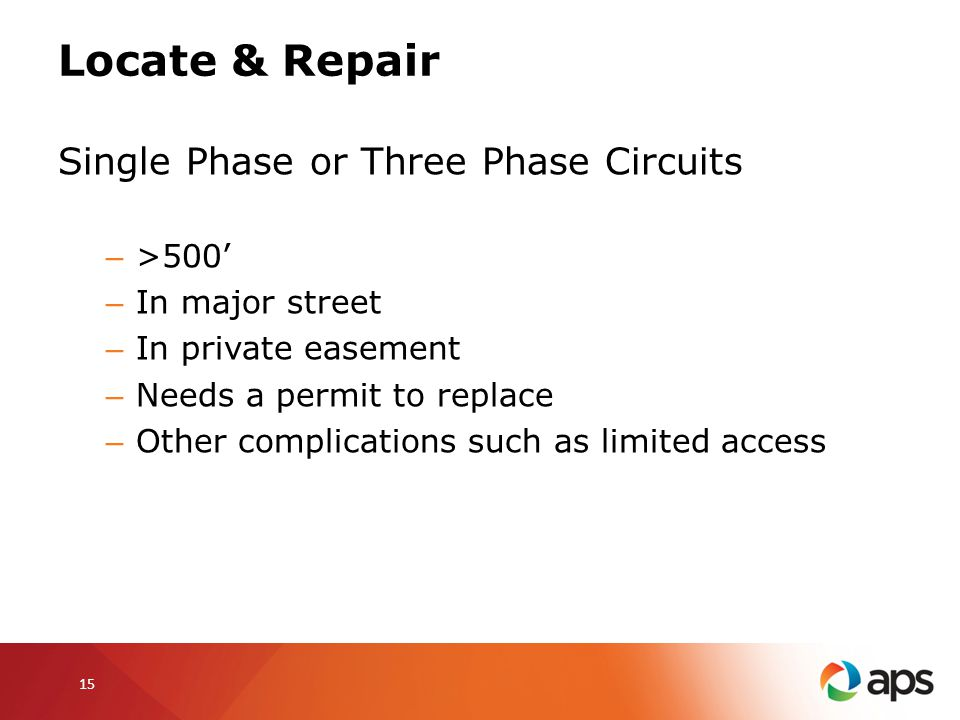 Locate & Repair Single Phase or Three Phase Circuits >500'