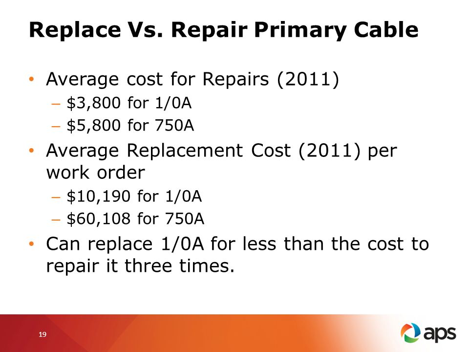 Replace Vs. Repair Primary Cable
