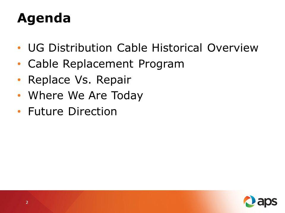 Agenda UG Distribution Cable Historical Overview