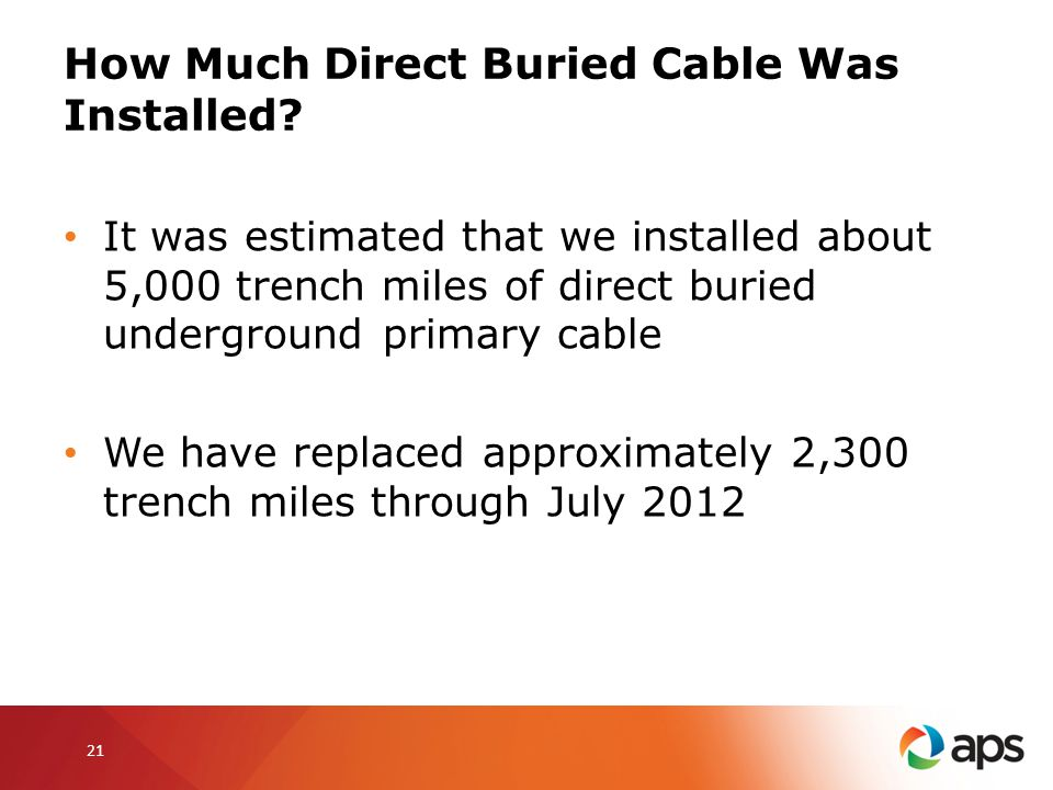How Much Direct Buried Cable Was Installed