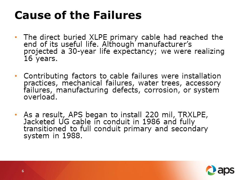 Cause of the Failures
