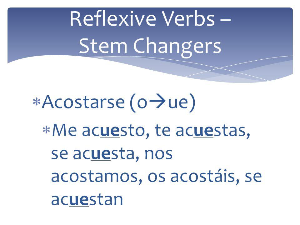 Reflexive Verbs – Stem Changers