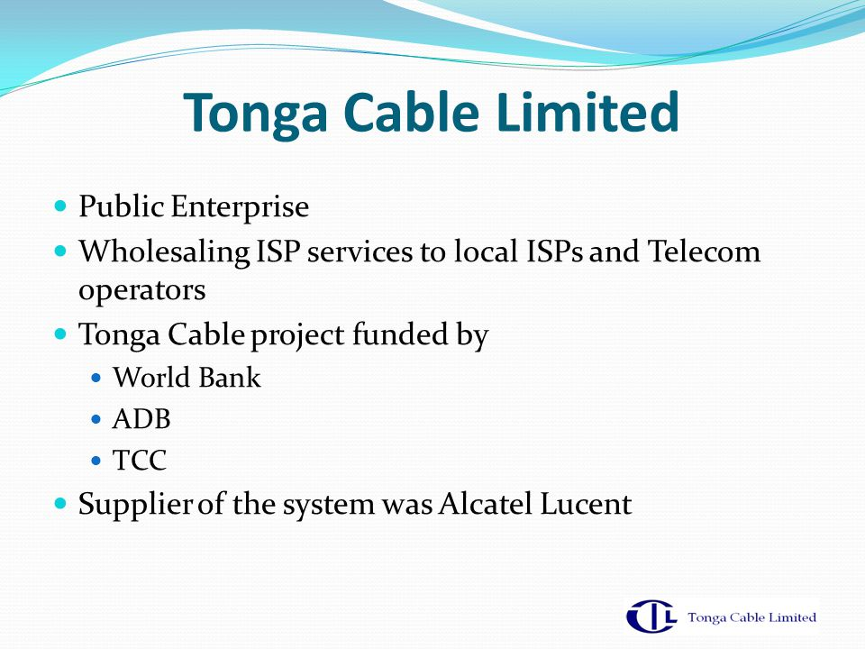 Tonga Cable Limited Public Enterprise