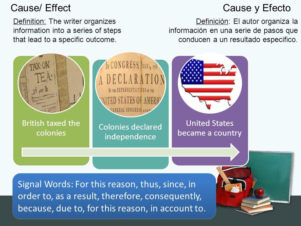 Cause/ Effect Cause y Efecto