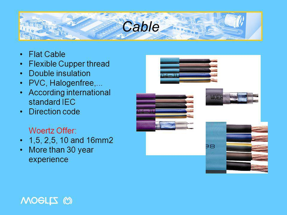 Cable Flat Cable Flexible Cupper thread Double insulation