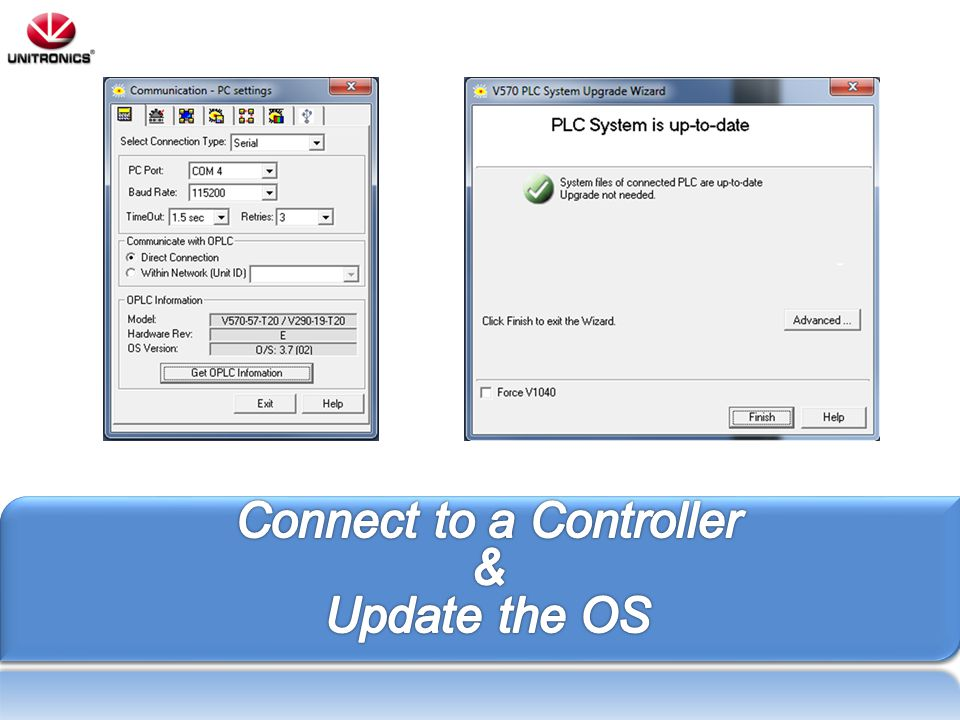 Connect to a Controller & Update the OS