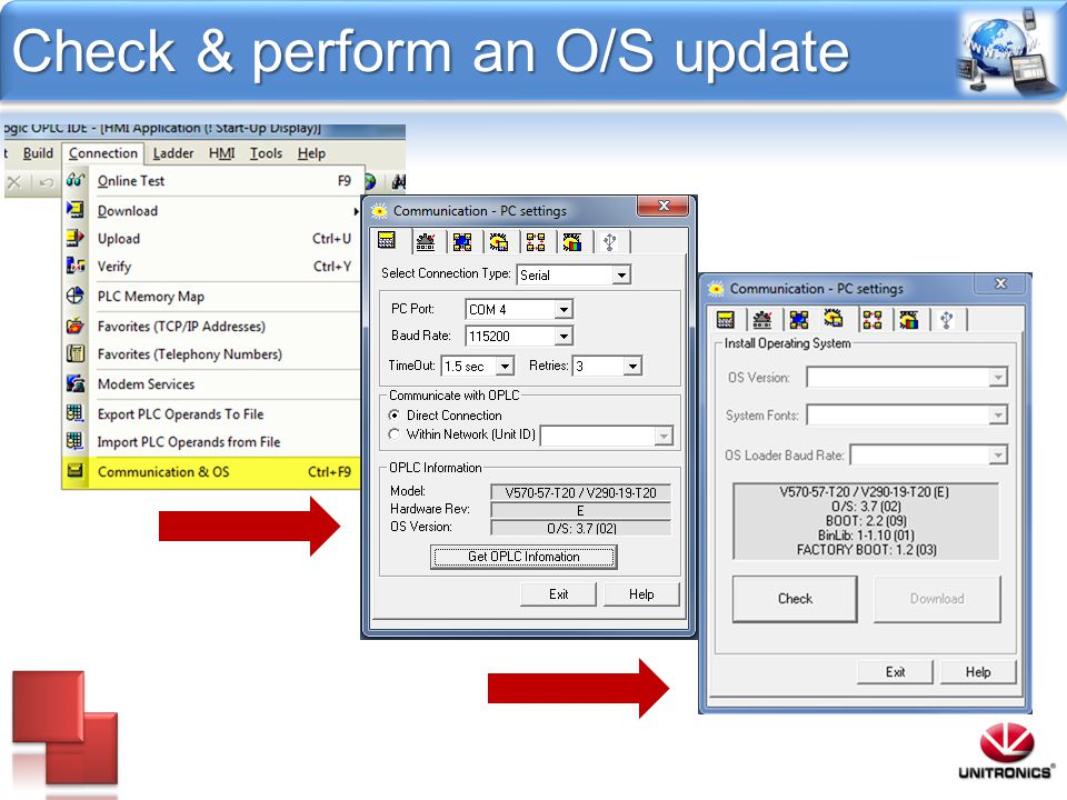 Check & perform an O/S update
