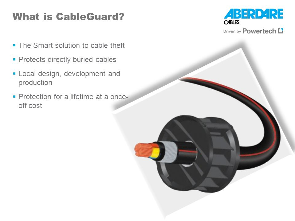 What is CableGuard The Smart solution to cable theft