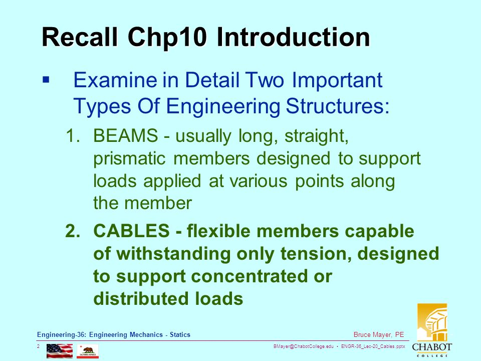 Recall Chp10 Introduction