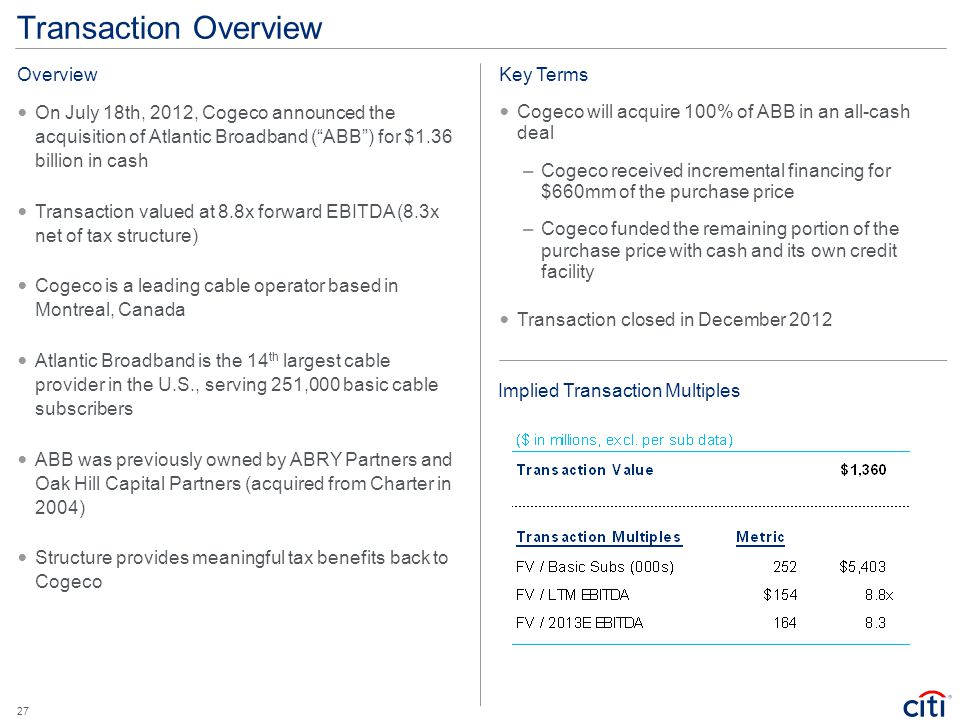 Transaction Overview Overview Key Terms
