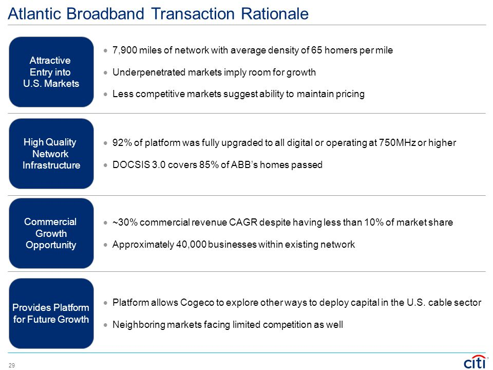 Atlantic Broadband Transaction Rationale
