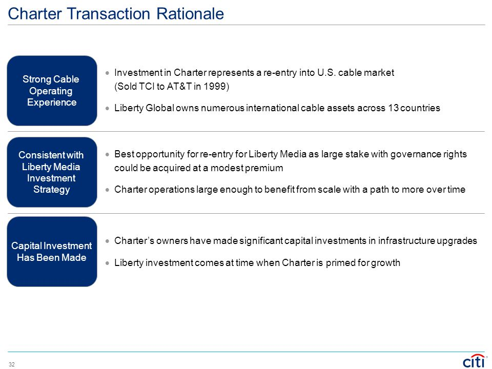 Charter Transaction Rationale