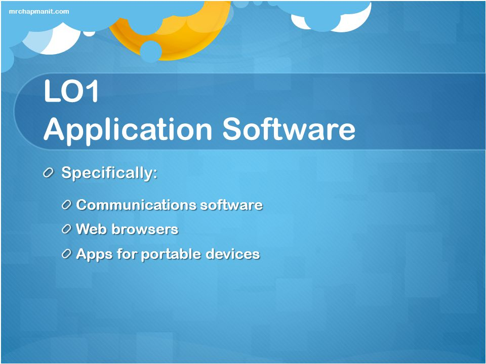 LO1 Application Software