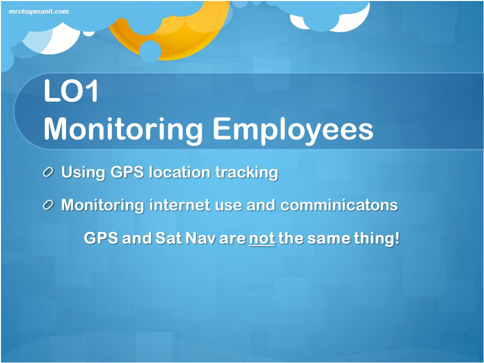 LO1 Monitoring Employees