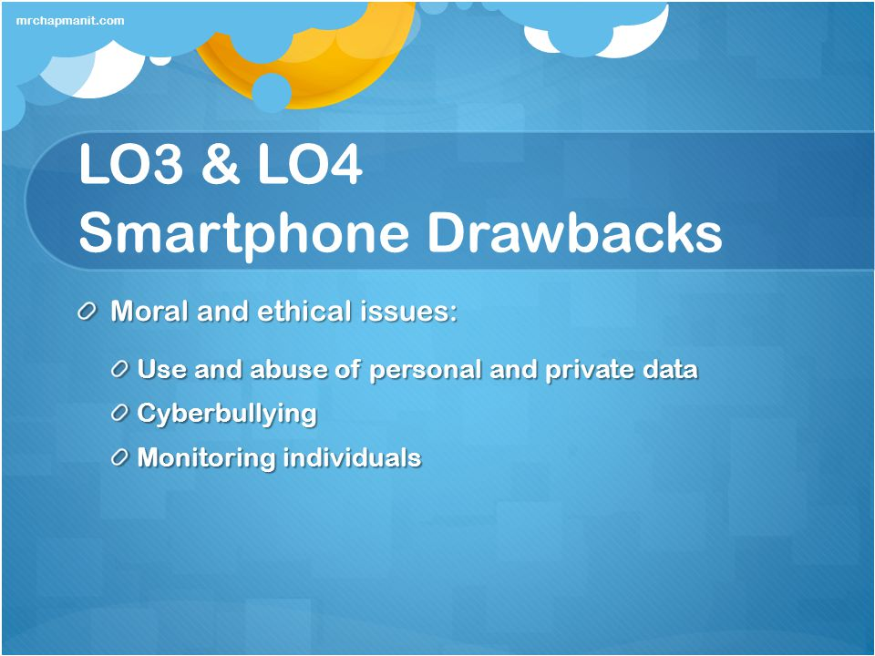 LO3 & LO4 Smartphone Drawbacks