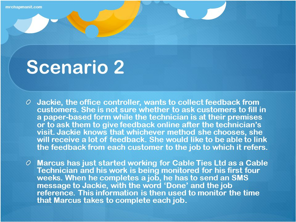 mrchapmanit.com Scenario 2.