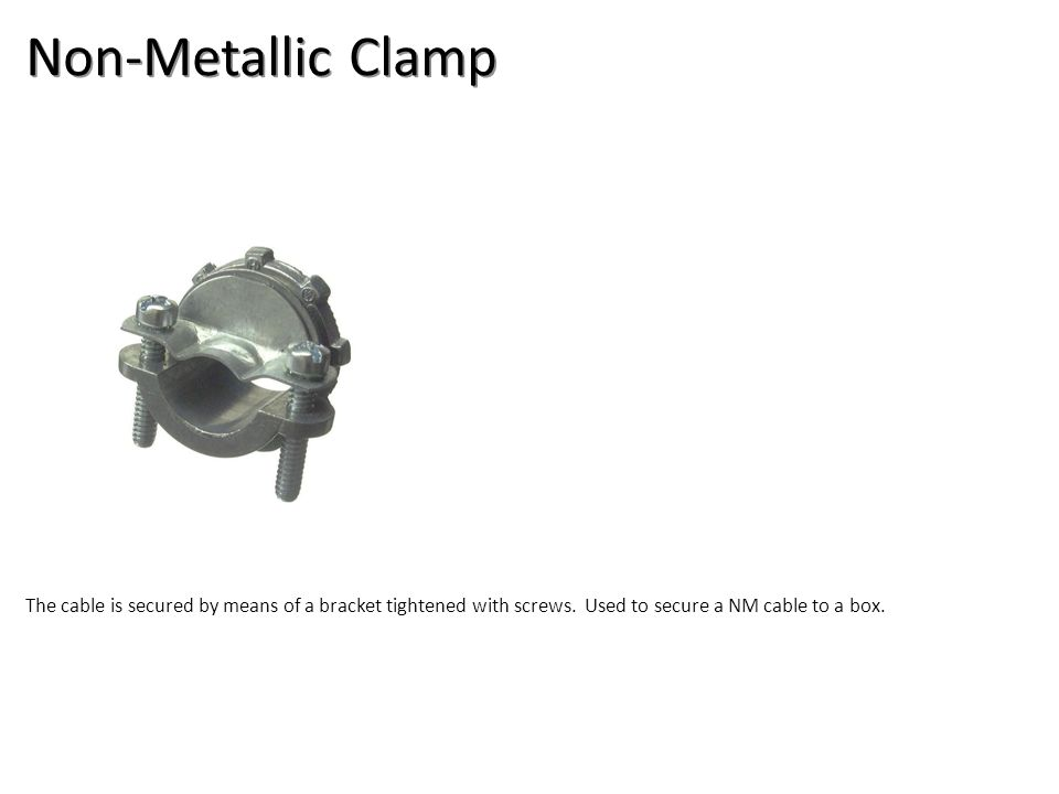 Non-Metallic Clamp Electrical-Electrical Supplies Image: NMCableClamp.jpg Height: 1000 Width: 1000.