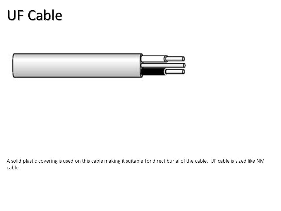 UF Cable Electrical-Electrical Supplies Image: UFCable.jpg Height: 77 Width: 325.