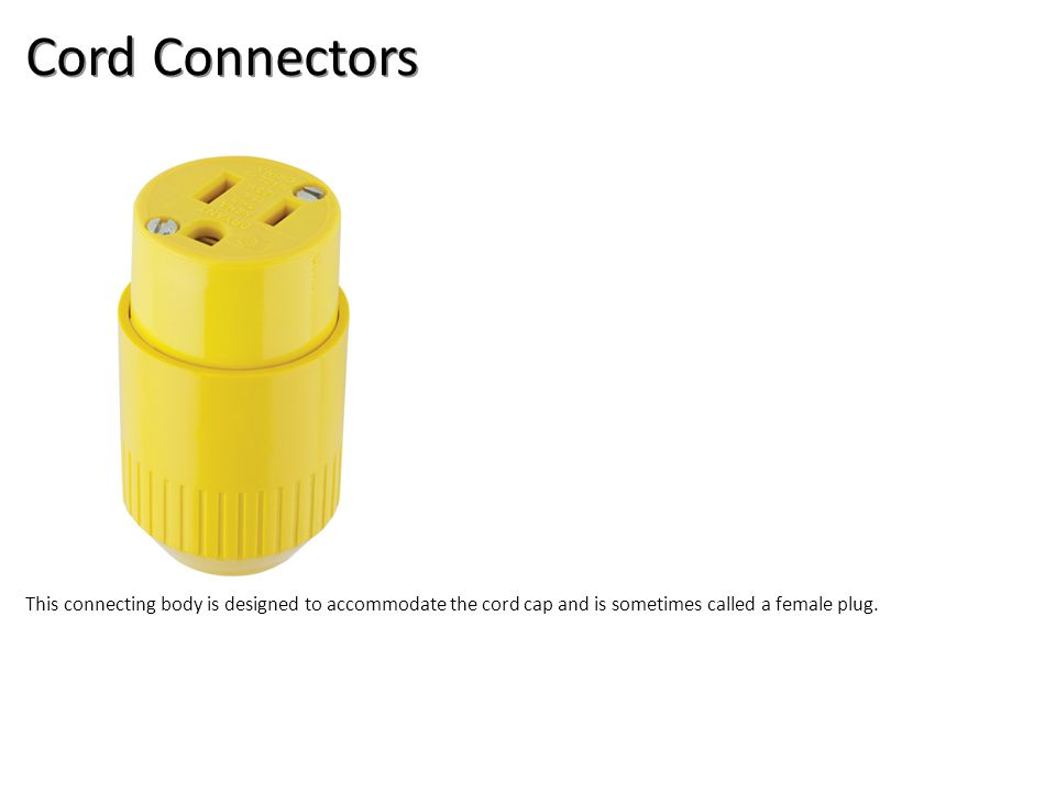 Cord Connectors Electrical-Boxes and Devices Image: Cord Connector.jpg Height: 900 Width: 900.