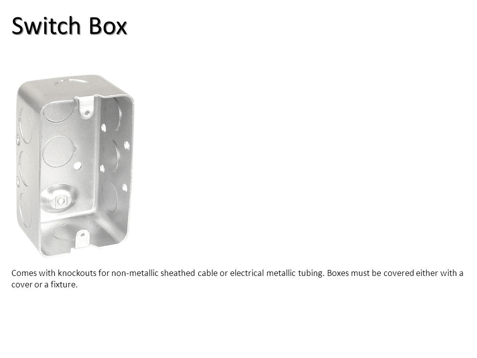 Switch Box Electrical-Boxes and Devices Image: HandyBox.jpg Height: 430.2 Width: 300.