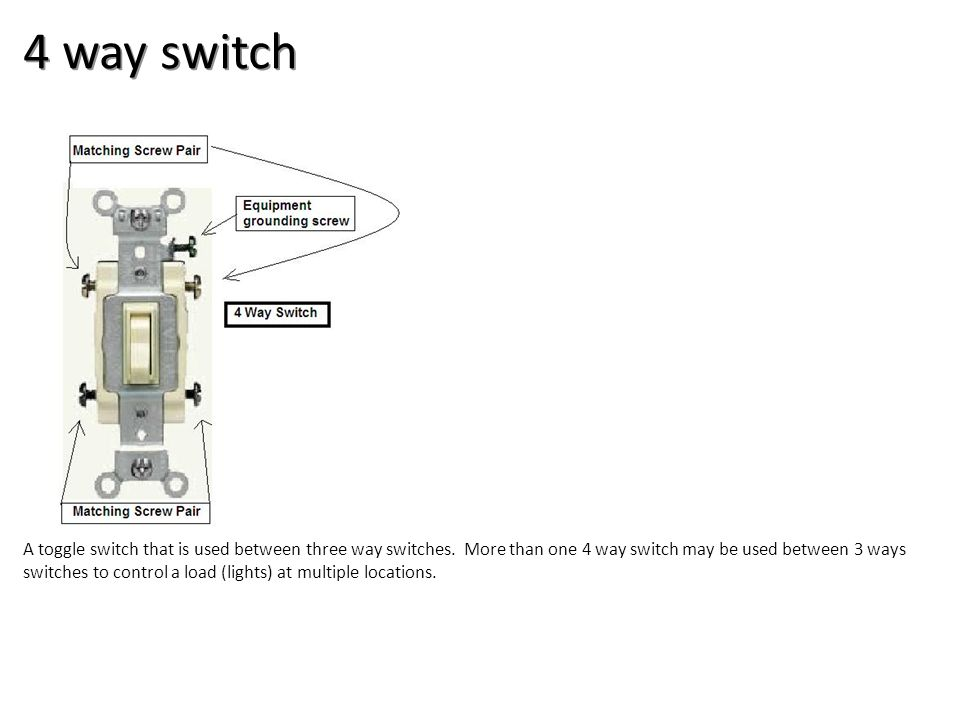 4 way switch Electrical-Boxes and Devices Image: 4 way switch.jpg Height: 366.75 Width: 360.