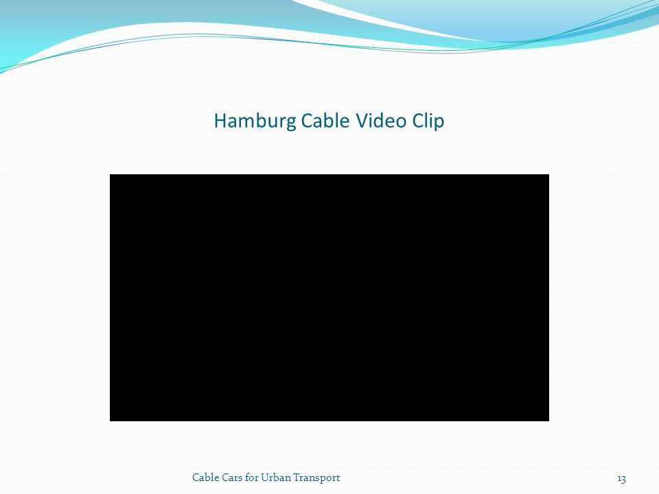 Hamburg Cable Video Clip