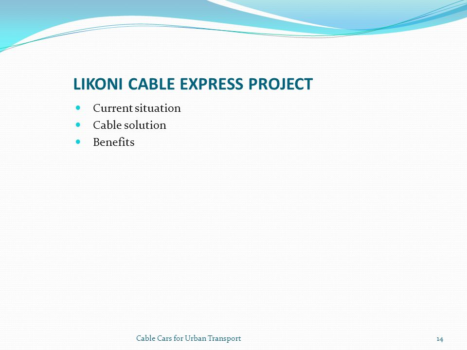 Likoni cable express project