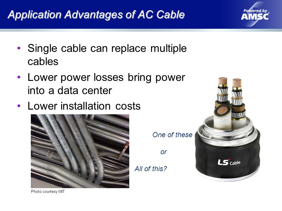 Application Advantages of AC Cable