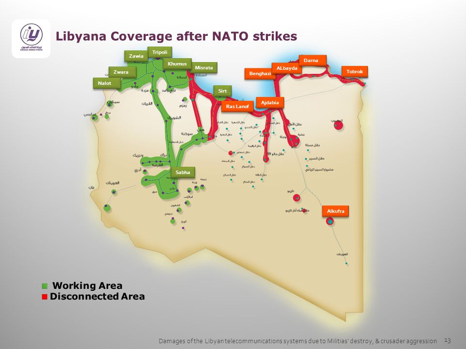 Libyana Coverage after NATO strikes
